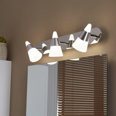 Barra a 3 luci Inspire Eviz cromo LED integrato