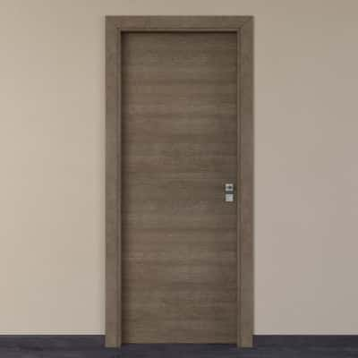 Porta per hotel battente Radisson tabacco 80 x H 210 cm sx