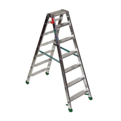 Scala doppia alluminio Facal 7 gradini, per lavori fino a 2,5 m