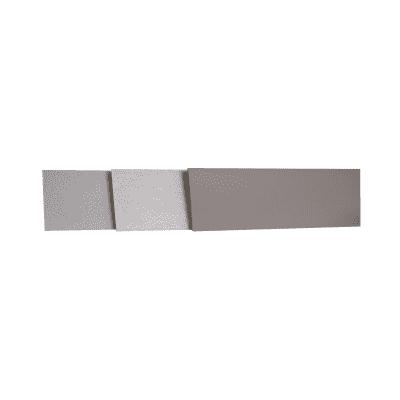 Alzatina su misura laminato grigio H 10 cm