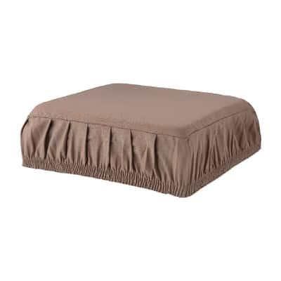 Cuscino per sedia con elastico Panama tortora 40 x 40 cm