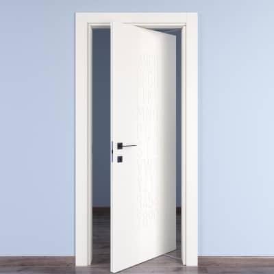 Porta da interno rototraslante Keyboard white bianco 70 x H 210 cm dx