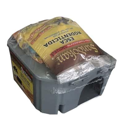 Dispenser esche topicide + 1 pz. esca pronta all'uso Sandokan 200 g