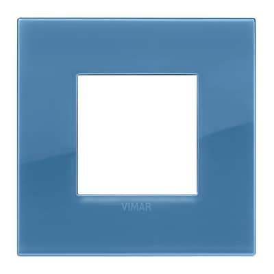 Placca 2 moduli Vimar Arké reflex oltremare