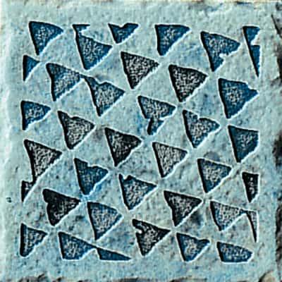 Formella Fuel blu 10 x 10 cm