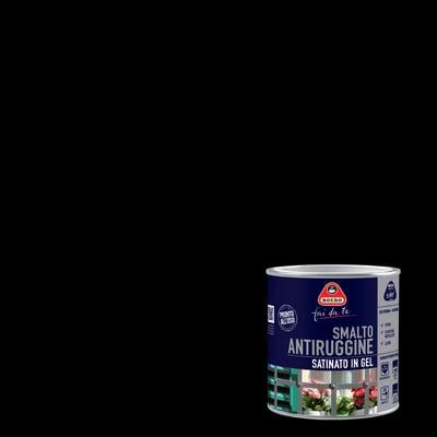 Smalto per ferro antiruggine nero satinato 2 L