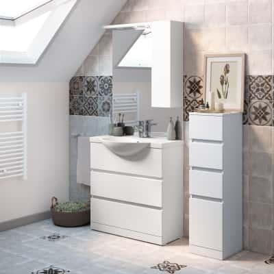 Mobile bagno elise bianco l 80 cm prezzi e offerte online for Mobili bagno prezzi