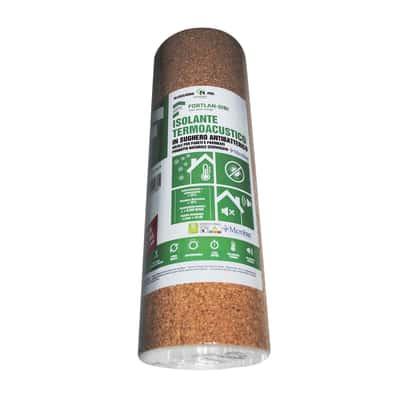 Rotolo in sughero rotolo in sughero supercompresso Fortlan L 10000 mm x H 1000 mm, spessore 2 mm