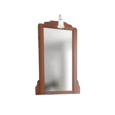 Specchio con faretto Laura noce 70 x 113 cm