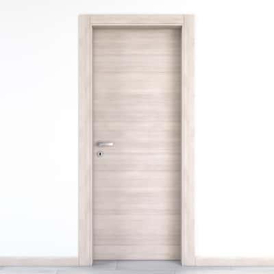 Porta da interno battente Resort Larice Ghiaccio 70 x H 210 cm reversibile