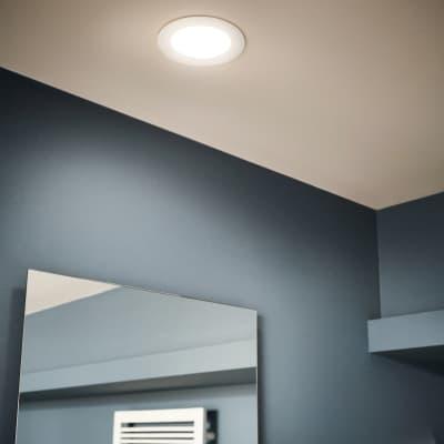 Faretto da incasso Ex.bath bianco LED integrato fisso rotondo Ø 22,5 cm 25 W = 2500 Lumen luce CCT (colour changing temperature)
