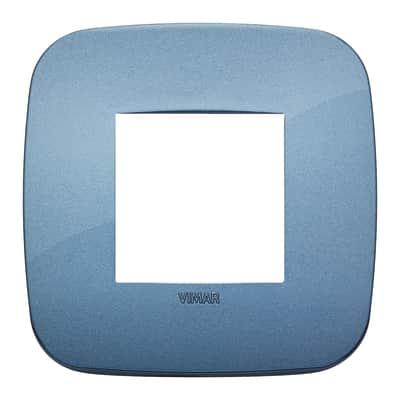 Placca 2 moduli Vimar Arké blu