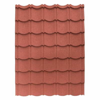 Lastra Easy Tuile rosso in acciaio zincato 113 x 86  cm