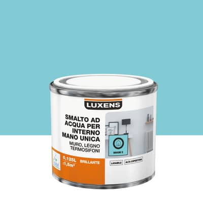 Smalto manounica Luxens all'acqua Blu Miami 5 brillante 0.125 L
