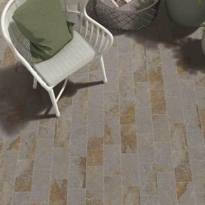 Piastrella Terra Ruggine 15,1 x 30,6 cm grigio, marrone