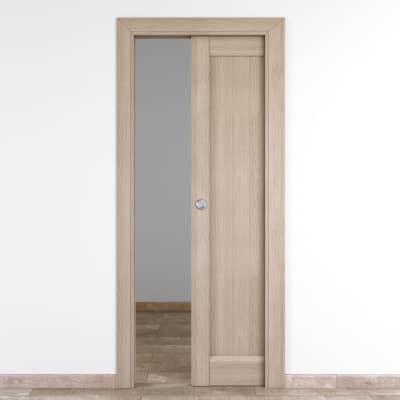 Porta da interno scorrevole Etamin paglia 70 x H 210 cm reversibile