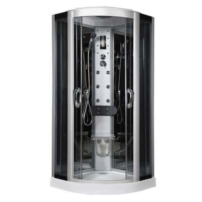 Cabina idromassaggio eklis 90 x 90 cm prezzi e offerte for Cabine doccia multifunzione leroy merlin