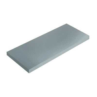 Mensola Spaceo grigio L 76 x P 20, sp 1,8 cm