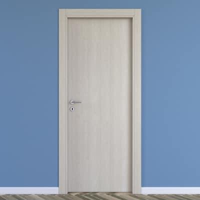 Porta da interno battente One ash wood frassino 90 x H 210 cm reversibile
