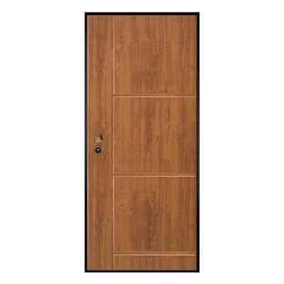 Porta blindata Idro golden oak L 80 x H 210 cm sx