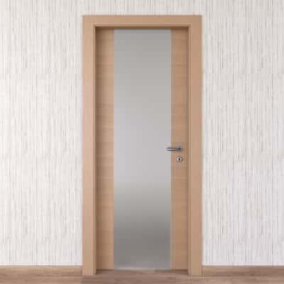 Porta da interno battente Sheraton rovere naturale 70 x H 210 cm sx
