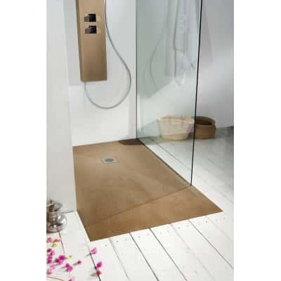 Piatto doccia resina Forest 120 x 90 cm cedro