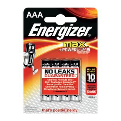 Pila alcalina ministilo AAA Energizer MAX