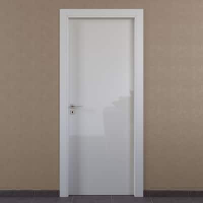 Porta da interno battente Massaua white bianco 70 x H 210 cm dx
