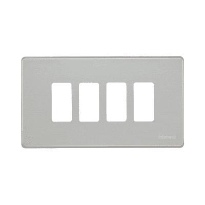 Placca 4 moduli BTicino Magic alluminio