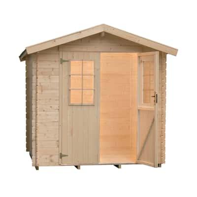casetta in legno grezzo Helli 3,76 m², spessore 28 mm