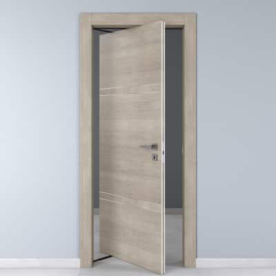 Porta da interno rototraslante Chasing rovere chiaro 80 x H 210 cm sx