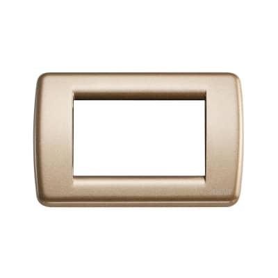 Placca 3 moduli Vimar Idea bronzo metallizzato