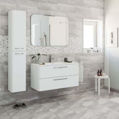 Mobile bagno Best bianco L 101 cm