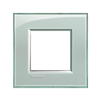 Placca 2 moduli BTicino Livinglight grigio ghiaccio