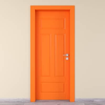 Porta da interno battente Coconut Groove arancio 70 x H 210 cm sx