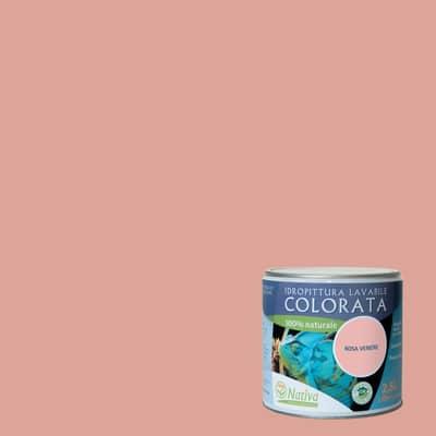 Idropittura lavabile Bio rosa venere 2,5 L Nativa