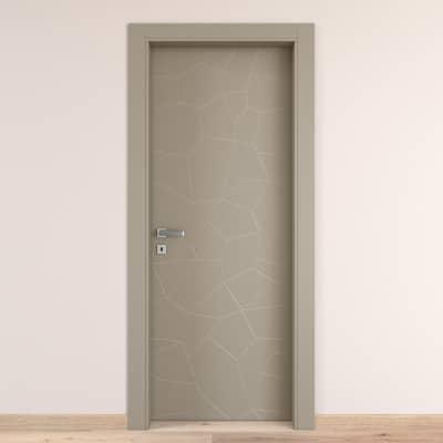 Porta da interno battente The Thing grigio 70 x H 210 cm dx
