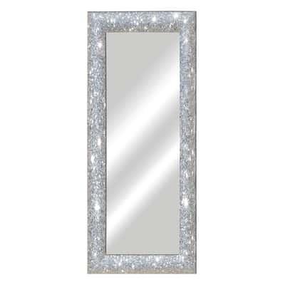 specchio da parete rettangolare Glitterata argento 62 x 162 cm ...