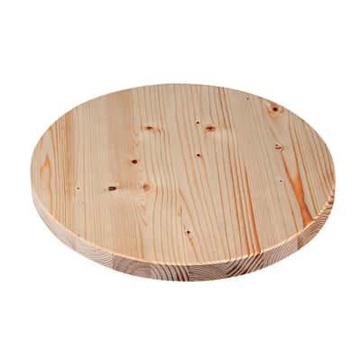Piano tavolo tondo legno Ø 40 cm grezzo