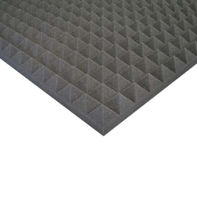 pannello fonoassorbente piramidale in poliuretano l 1 m x