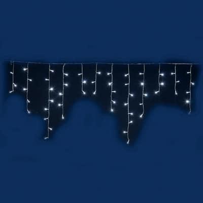 Ghiaccioli luminosi 96 minilucciole Led bianca fredda 3 m