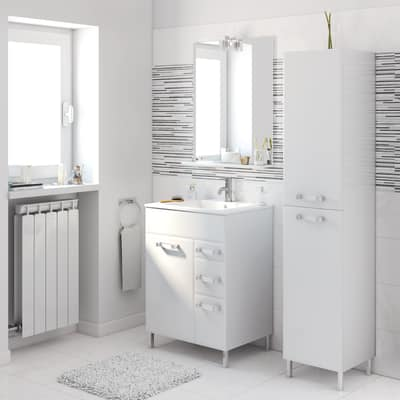 Mobile bagno Opale bianco L 60 cm prezzi e offerte online | Leroy Merlin