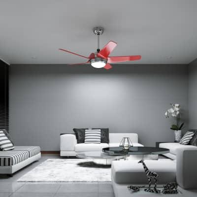 Pale per ventilatore da soffitto componibile kit 5 pezzi Auckland rosso