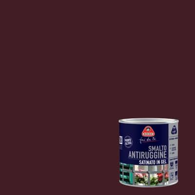 Smalto per ferro antiruggine testa di moro satinato 0,5 L