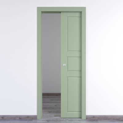 Porta da interno scorrevole New York verde 60 x H 210 cm reversibile