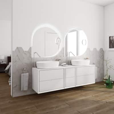 Mobile bagno Devon bianco L 176 cm