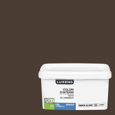 Idropittura lavabile Mano unica Marrone Cioccolato 1 - 2,5 L Luxens