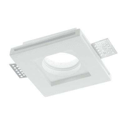 Faretto incasso gesso Spirit-q1 bianco fisso quadrato 10 x 10 cm