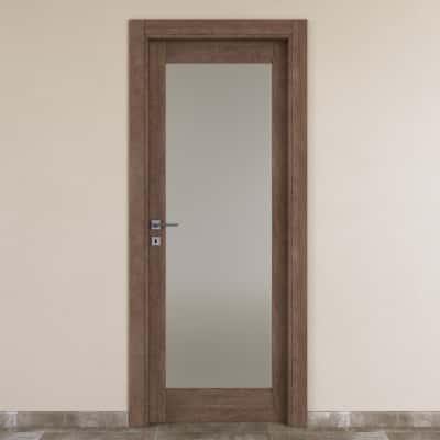 Porta da interno battente Gacrux tabacco 70 x H 210 cm dx