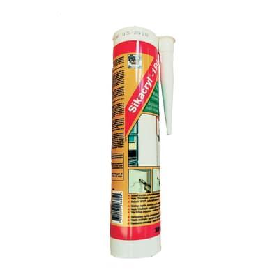 Sigillante acrilico Sikacryl-150 bianco Sika 300 ml, per alluminio, cemento, laterizi